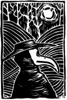 -plague doctor lino- by weird-science