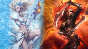 League of Legends WP - Janna VS Katarina by DioHard