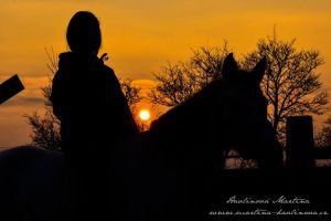 Silhouette at sunset by martinahavlinova