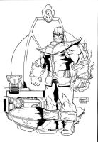 Thanos inks by shoveke by victoroil