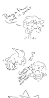 Link and the bees. by applestarxD