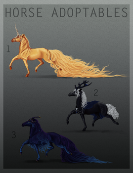 HORSE ADOPTABLES | ALL SOLD | by Miss-Mazzira