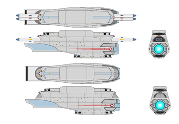 New Hull Configuration Model RS63 Secondary Hull by kaisernathan1701