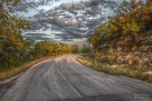 The Road (Extreme Contrast Map) by DeepSlackerJazz