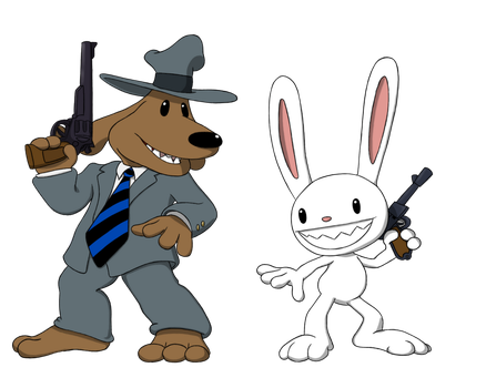 Sam and Max Chibi's by equilibrik