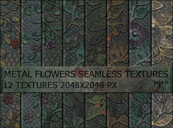 Metal flowers seamless textures by jojo-ojoj