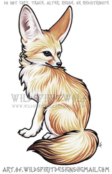 Fennec Fox Color Design Commission by WildSpiritWolf