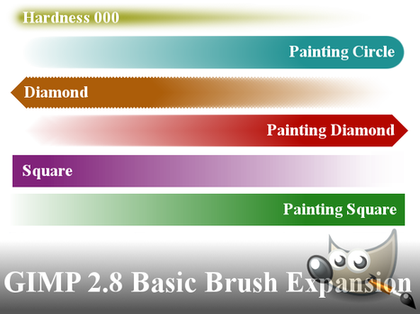 GIMP 2.8 Basic Brush Expansion by PkGam