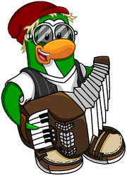 Petey K playing the accordion by BandiTex