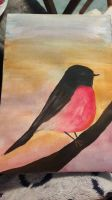 pink robin by TaitGallery