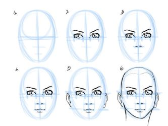 Quick face tutorial by Exemi