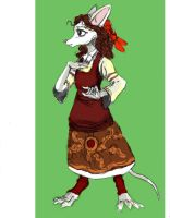Jewish Mouse Woman -Sketch 01 by TheLivingShadow