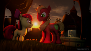 Two Apples at Sunset by IndexSFM