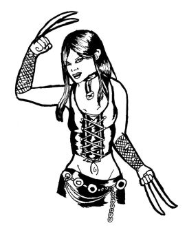 X-23 inked by Laura-Kinney