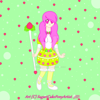 Ichigo Izumi (Strawberry Cupcake's anime form). by SugariSweetLolita