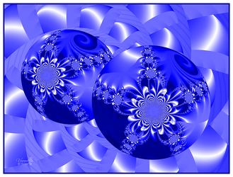 Baubles in Blue by vanndra