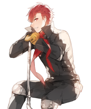 Commission: Cain from Fire Emblem dressed as Ryuji by batensan