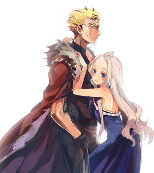 Render - Laxus X Mirajane [Fairy Tail] by Skiadrum-94