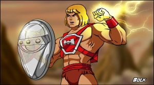 Thunder Punch He-Man Filmation Style! by MikeBock