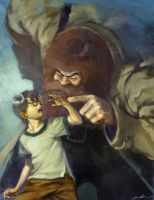 harry and hagrid by cuson