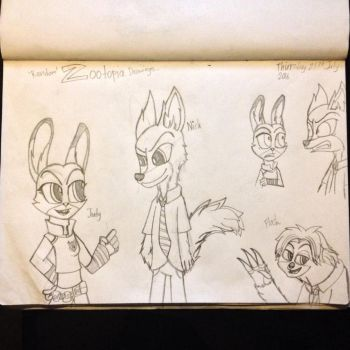 'Random' Zootopia drawings... by Riyana2