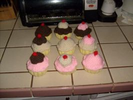 Crochet Cupcakes by Anuella