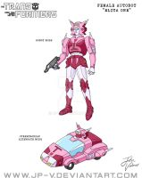 Elita One - Cartoon Animation Model Sheet by JP-V