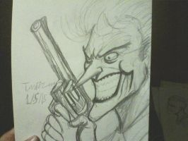 jim lee joker sketch by ThomasDrawsStuff