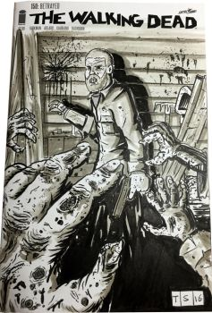 The Walking Dead #150 Sketch Cover by sedani