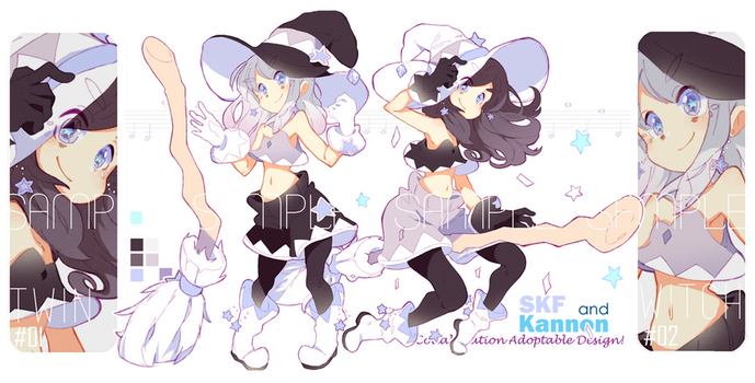 Twin STAR witch collab adopt/set price [CLOSED] by kanodraw