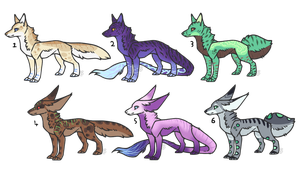 Canine Variety Adopts (1/6 OPEN) by WolfoxAdopts