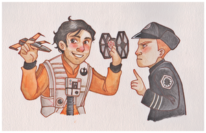 When Poe meets Hux by nam-stram-gram