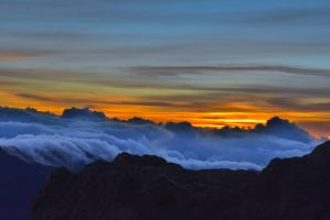 Sunrise Above The Clouds (1) by IsabellaNY