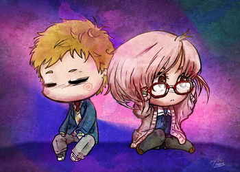 beyond the boundary: chibi 5x7 by josikaea