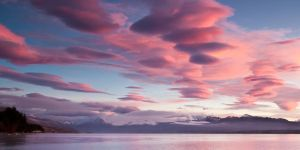 Lenticular Clouds Sunrise by Niv24