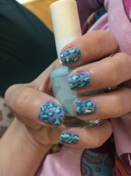 Pastel Leopard nails by Goddess-Suicune