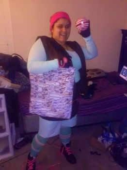 Pokemon Trainer Vanellope Cosplay WIP by chaoticlatina