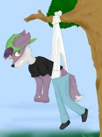 Commission 2~ Hanging by Alexis-Faustus