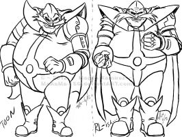 Robotnik Drawing Styles by MaRaMa-Artz