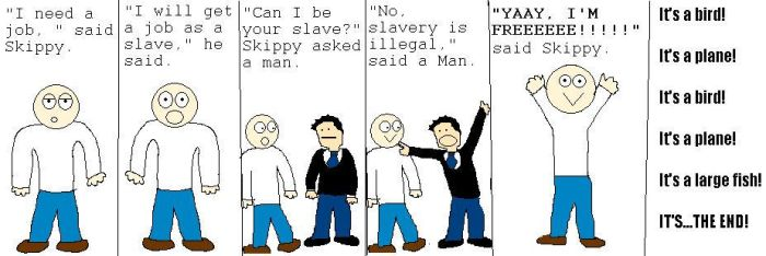31-Slavery Is Illegal by skippycartoons