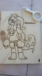 scribble gu - Wood Reproduction by The8Madness