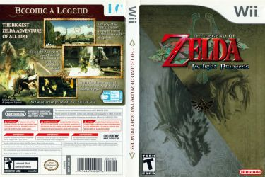 The legend of Zelda Twilight Princess Boxart (Wii) by dakotaatokad