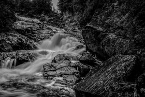 Black and White Waterfall by MastersImagingPhotos