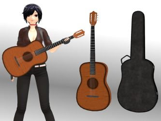 [MMD] Acoustic guitar [download] by Wampa842