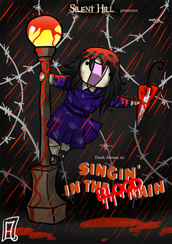 -P: Singing in the BLOOD rain- by Frandoll-Scarlet