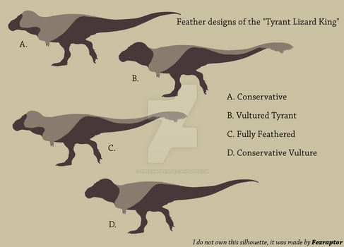 Feathered Tyrannosaurus rex designs by TheSynopsis