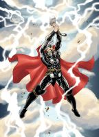 Thor unleashes his storm by SpiderGuile