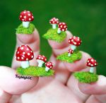 Toadstool Nail Art by KayleighOC
