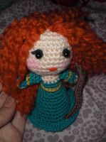 Pattern amigurumi Merida from Brave by elbuhocosturero