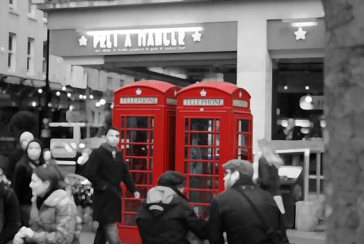 Red Telephone Boxes... by XKiKX
